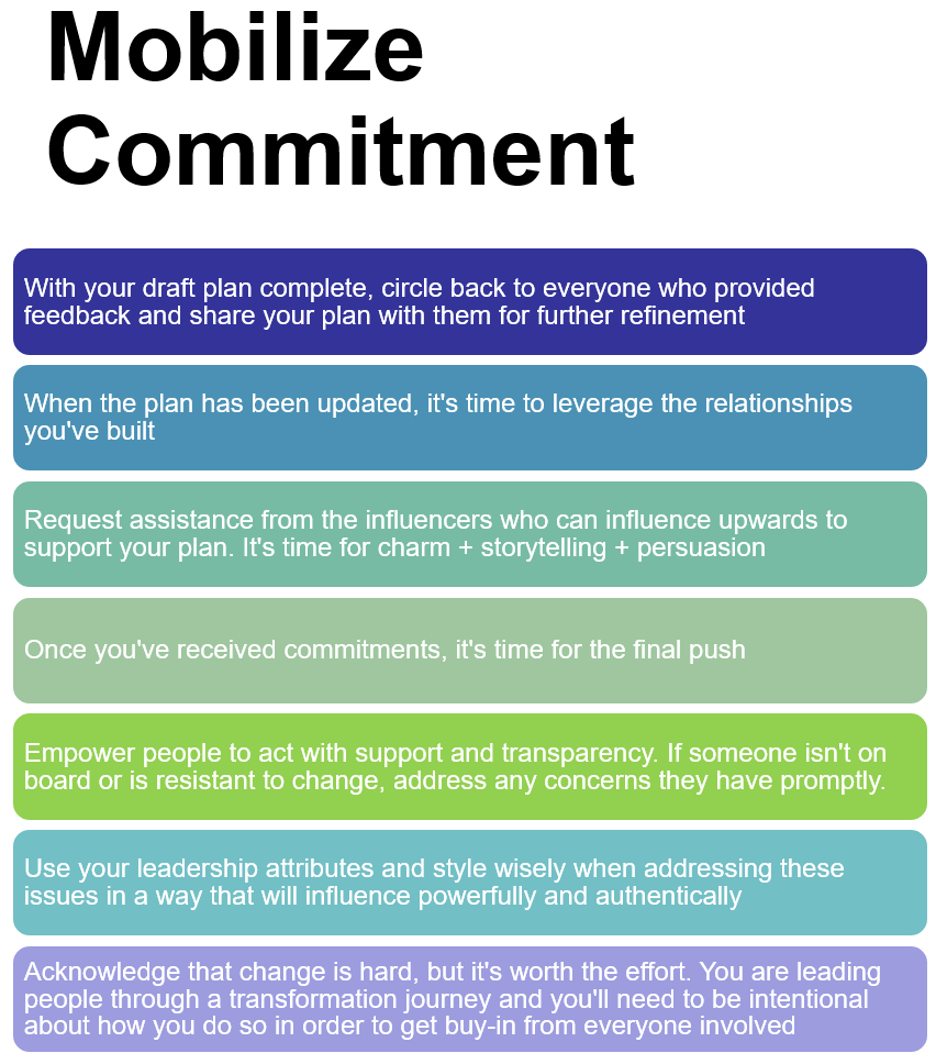 Mobilize Commitment